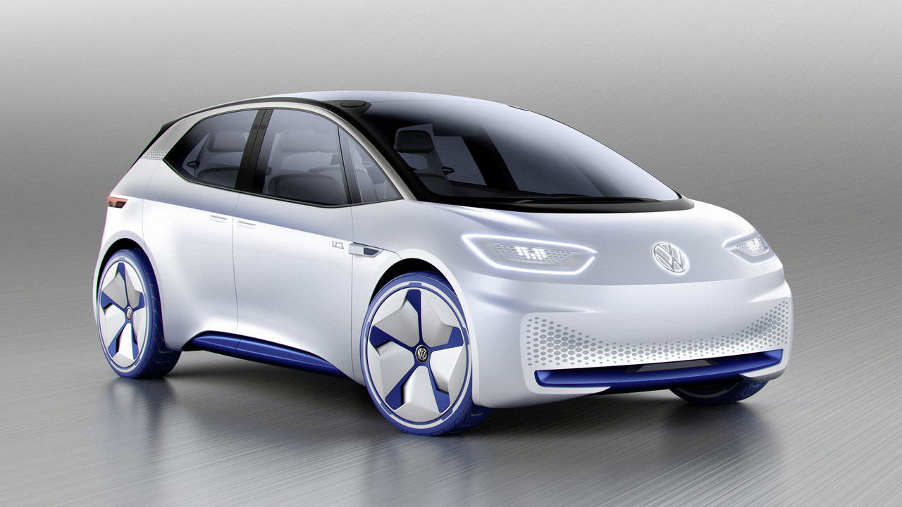 VW продемонстрировал концепт-кар хэтчбека сэлектродвигателем