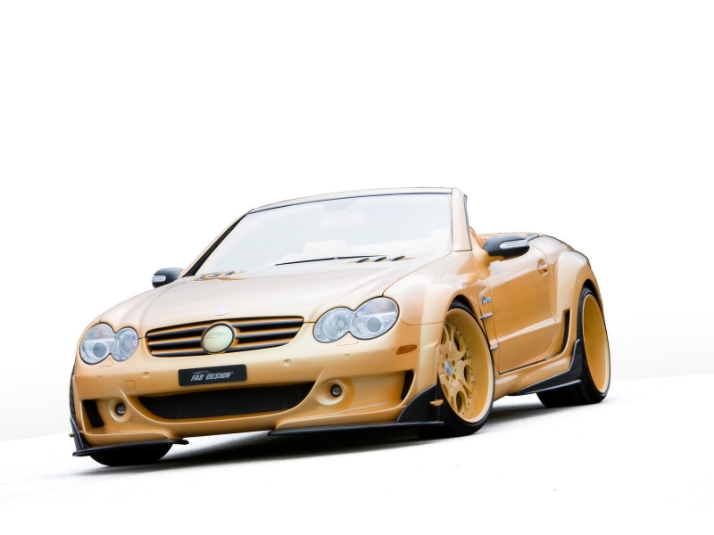 FAB Design Mercedes Benz SL Widebody Studio Front Angle Tilt автомобильные обои