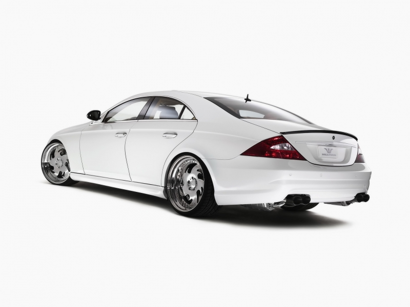 Wheelsandmore Mercedes Benz CLS White Label Rear And Side автомобильные обои
