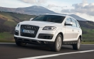 Audi Q7 White Front Angle Speed
